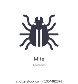 mite icon. isolated mite icon vector illustration from animals collection. editable sing symbol can be use for web site and mobile app