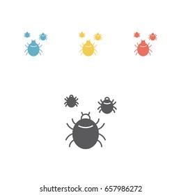 Mite icon. Vector illustration.