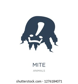mite icon vector on white background, mite trendy filled icons from Animals  collection, mite vector illustration