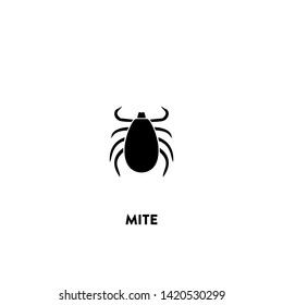 mite icon vector. mite sign on white background. mite icon for web and app