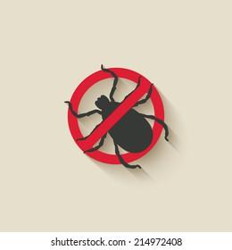 mite warning sign - vector illustration. eps 10