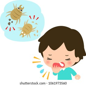 Mites and a sneezing boy