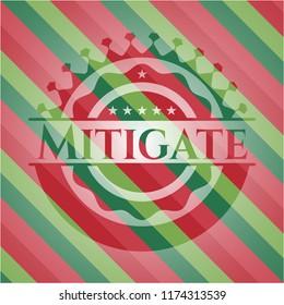 Mitigate christmas style emblem.