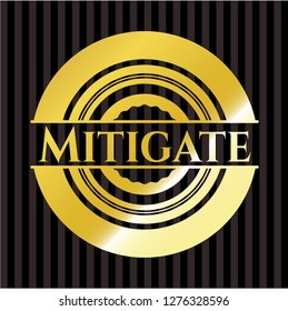Mitigate gold emblem or badge