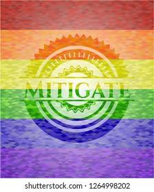 Mitigate lgbt colors emblem
