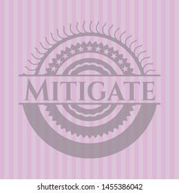 Mitigate pink emblem. Vector Illustration. Detailed.