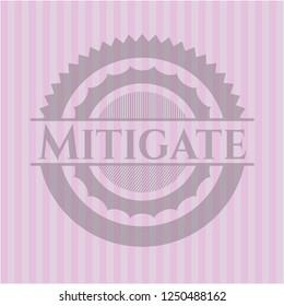 Mitigate retro pink emblem