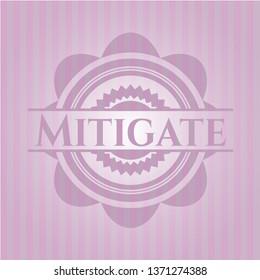 Mitigate retro style pink emblem