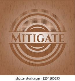Mitigate vintage wooden emblem