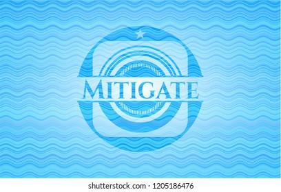 Mitigate water badge.