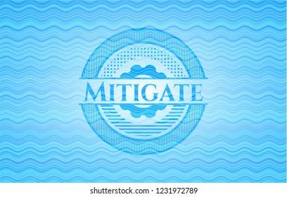 Mitigate water representation emblem background.