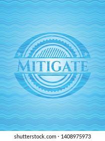 Mitigate water representation emblem background. Vector Illustration. Detailed.