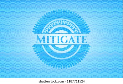 Mitigate water wave representation style emblem.