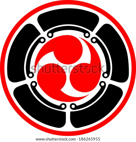 Mitsu Tomoe Japanese Triad Symbol Martial Stock Vector Royalty Free
