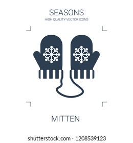 mitten icon. high quality filled mitten icon on white background. from seasons collection flat trendy vector mitten symbol. use for web and mobile
