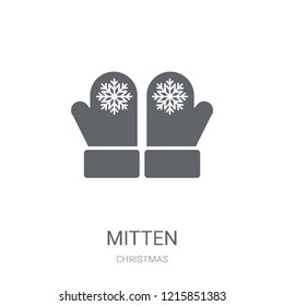 Mitten icon. Trendy Mitten logo concept on white background from Christmas collection. Suitable for use on web apps, mobile apps and print media.