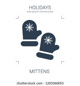 mittens icon. high quality filled mittens icon on white background. from holidays collection flat trendy vector mittens symbol. use for web and mobile
