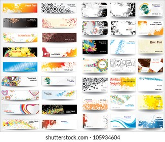 Mix collection banners and business cards