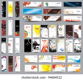 Mix collection banners and business cards .