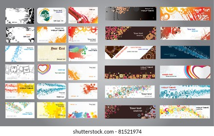 Mix collection business cards and banners.