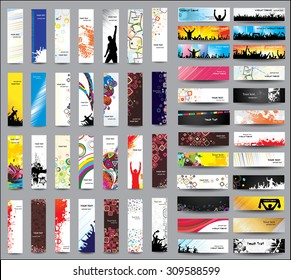 Mix Collection vertical and horizontal banners