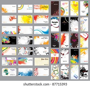 Mix Collection vertical and horizontal cards on different topics