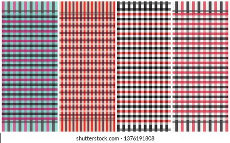 Mix color loincloth vector and illustration.checkers table.fabric pattern template.Abstract background.
