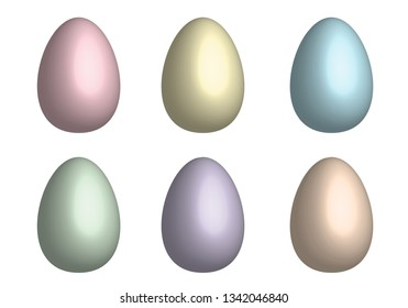Mix Easter eggs for Easter holidays 3D design isoleted in white background