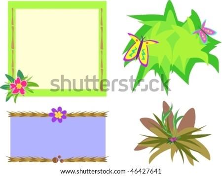 Mix Tropical Frames Vector Stock Vector (Royalty Free) 46427641 ...