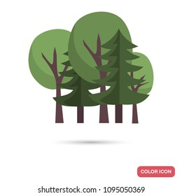 Mixed forest color flat icon