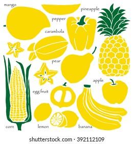 Yellow Fruit Images, Stock Photos & Vectors   Shutterstock