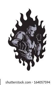 Mixed Martial Art Mascot