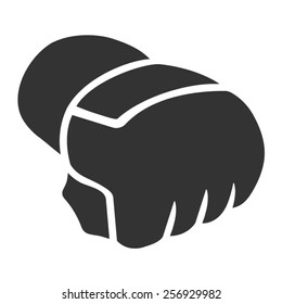 Mixed Martial Arts - MMA - gloves flat vector icon for sports apps and websites