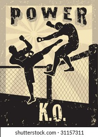 Mixed Martial Arts Power Knockout