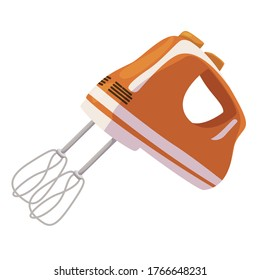 Mixer icon, kitchen appliance for mixing foods. Household equipment. Vector mixer cartoon illustration isolated on white background