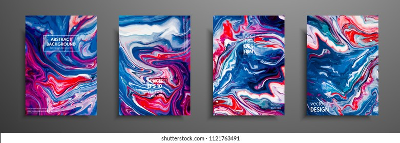 Mixture of acrylic paints. Liquid marble texture. Fluid art. Applicable for design cover, presentation, invitation, flyer, annual report, poster and business card, desing packaging. Modern artwork