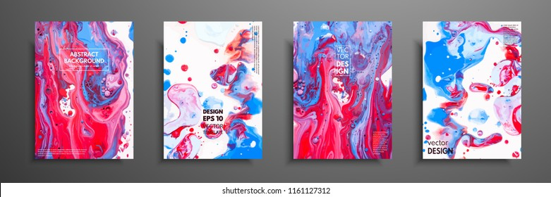 Mixture of acrylic paints. Liquid marble texture. Fluid art. Applicable for design cover, presentation, invitation, flyer, annual report, poster and business card, desing packaging. Modern artwork.