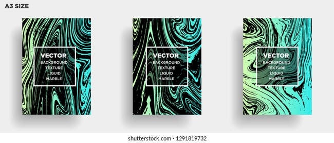 Mixture of acrylic paints. Liquid marble texture. Fluid art. Applicable for design cover, presentation, invitation, flyer, annual report, poster, desing packaging. Modern artwork - Vector
