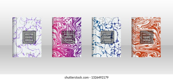 Mixture of acrylic paints. Liquid marble texture. Fluid art. Applicable for design cover, presentation, invitation, flyer, annual report, poster and business card, desing packaging - Vector