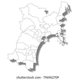 Miyagi Prefecture Map white icon