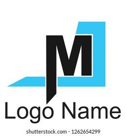 MJ Alphabet logos, future techno alphabet, minimalistic vector typeface, Initial Logos