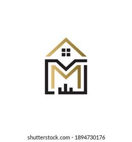 mj home logo design vector icon