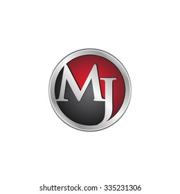 MJ initial circle logo red