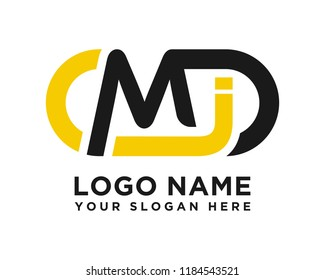 MJ initial logo template vexctor