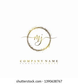 MJ Initial luxury handwriting logo vector