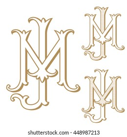 MJ or JM Vintage Monogram