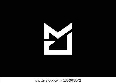 MJ letter logo design on luxury background. JM monogram initials letter logo concept. MJ icon design. JM elegant and Professional white color letter icon design on black background.