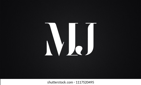 MJ Letter Logo Design Template Vector