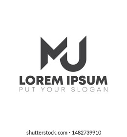 MJ Letter logo design template for use all purpose
