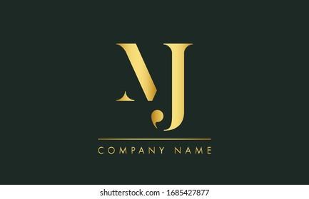 MJ Letter Logo Design. MJ letter logo Vector Illustration - Vector